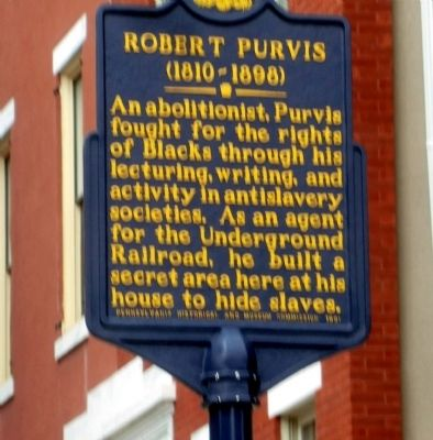 Robert Purvis Marker image. Click for full size.