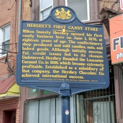 Hershey's First Candy Store Marker image. Click for full size.