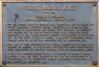 Forrest Marbury House Marker image. Click for full size.