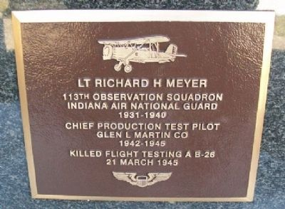 Lt Richard H Meyer Marker image. Click for full size.