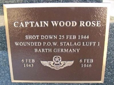 Captain Wood Rose Marker image. Click for full size.