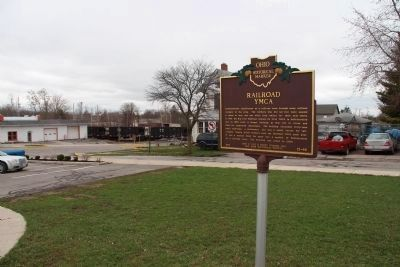 The Railroad in Logan County Marker image. Click for full size.