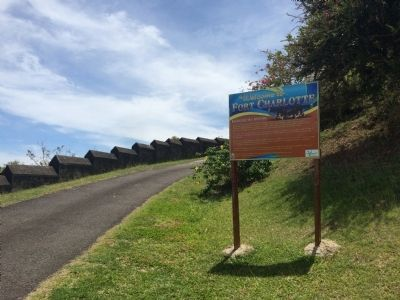 Wide view of Welcome to Fort Charlotte Marker image. Click for full size.