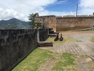View of the western wall of the fort. image. Click for full size.