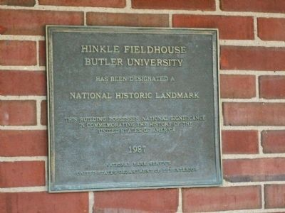 Hinkle Fieldhouse Marker image. Click for full size.