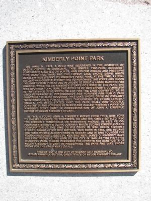 Kimberly Point Park Marker image. Click for full size.