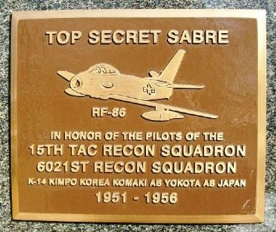15th Tac Recon Squadron, 6021st Recon Squadron Marker image. Click for full size.