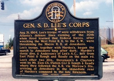 Gen. S. D. Lee's Corps Marker image. Click for full size.