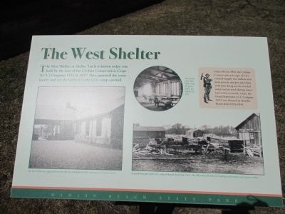 The West Shelter Marker image. Click for full size.