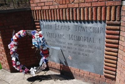 South Beaver Township Veterans Memorial image. Click for full size.