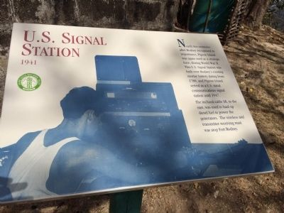 U.S. Signal Station Marker image. Click for full size.