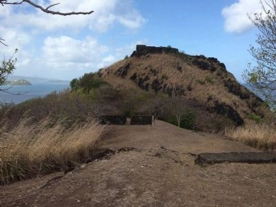Musket Redoubt seen from higher up on the walk to Signal Peak. image. Click for full size.