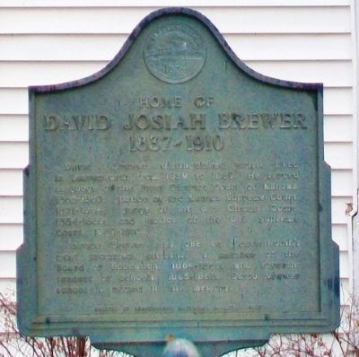 Home of David Josiah Brewer Marker image. Click for full size.