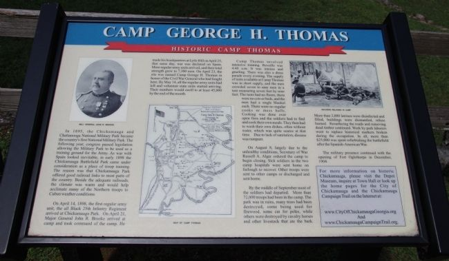 Camp George H. Thomas Marker image. Click for full size.