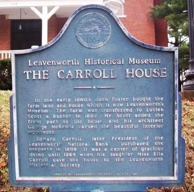 The Carroll House Marker image. Click for full size.