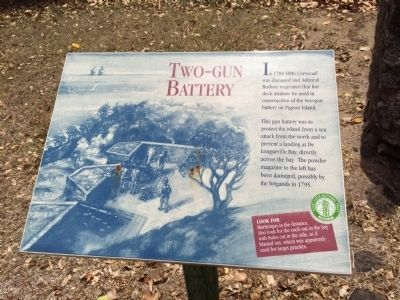 Two-Gun Battery Marker image. Click for full size.