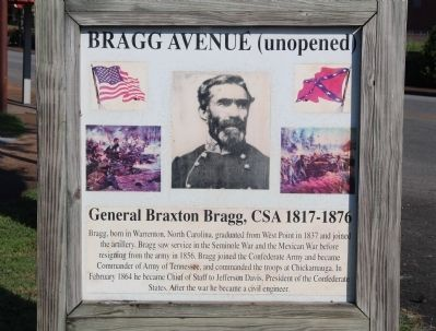 Bragg Avenue Marker image. Click for full size.