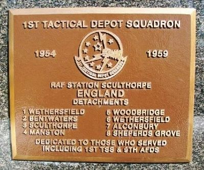 1st Tactical Depot Squadron Marker image. Click for full size.