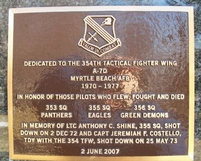 354th Tactical Fighter Wing Marker image. Click for full size.
