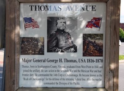 Thomas Avenue Marker image. Click for full size.