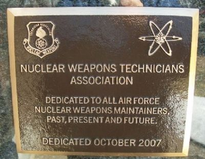 Nuclear Weapons Technicians Association Marker image. Click for full size.