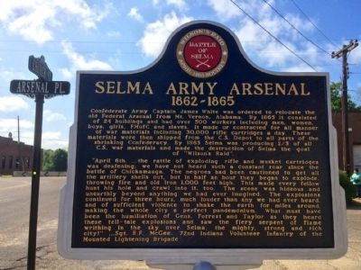 Selma Army Arsenal Marker (Front) image. Click for full size.