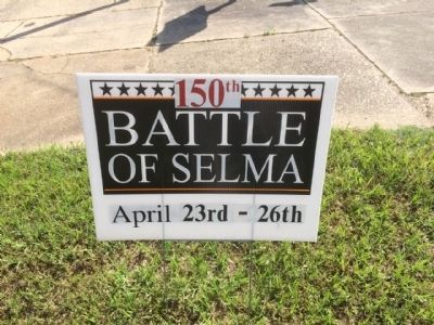 150th Anniversary of the Battle of Selma this weekend. image. Click for full size.