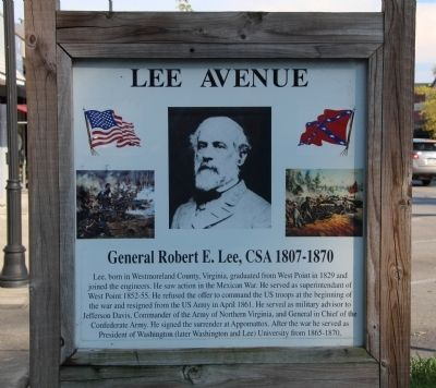 Lee Avenue Marker image. Click for full size.