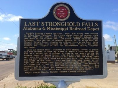 Last Stronghold Falls Marker (Front) image. Click for full size.