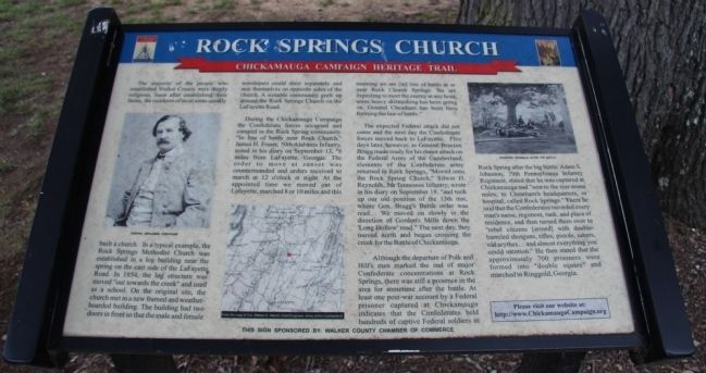 Rock Springs Church Marker image. Click for full size.
