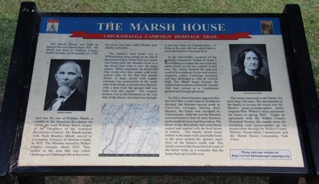 The Marsh House Marker image. Click for full size.