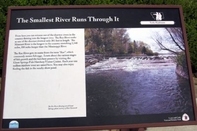 The Smallest River Runs Through It Marker image. Click for full size.