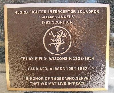 433rd Fighter Interceptor Squadron Marker image. Click for full size.