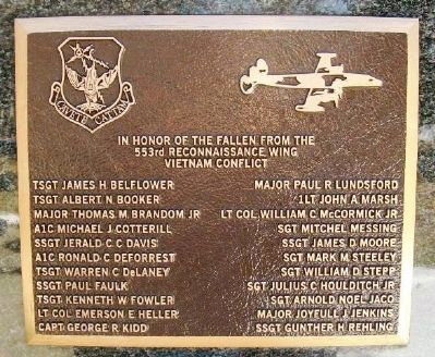 553rd Reconnaissance Wing's Vietnam Fallen Marker image. Click for full size.