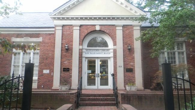 The Alexandria Library - Kate Waller Barret Branch - at 717 Queen Street. image. Click for full size.