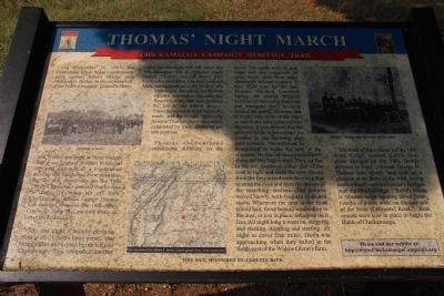 Thomas' Night March Marker image. Click for full size.