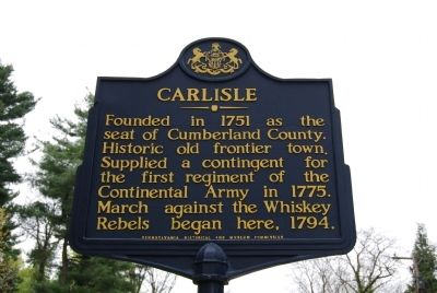 Carlisle Marker image. Click for full size.