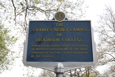 The Charles Nisbet Campus of Dickinson College Marker image. Click for full size.