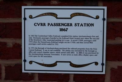 Cumberland Valley Railroad Passenger Station image. Click for full size.