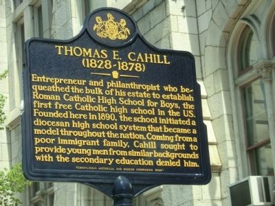 Thomas E. Cahill Marker image. Click for full size.