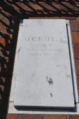 Osceola Grave Marker image. Click for full size.