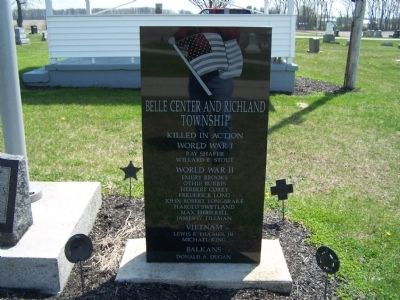 Belle Center War Memorial Marker image. Click for full size.