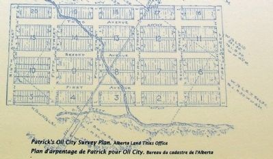 Oil City Survey Plan by A.P. Patrick image. Click for full size.