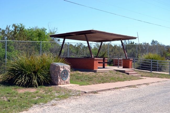 Coke County Marker at Roadside Picnic Area image. Click for full size.