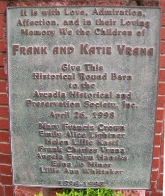Frank and Katie Vrana Marker image. Click for full size.