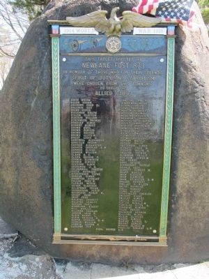 Town of Newfane WWI Memorial image. Click for full size.
