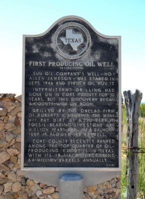 First Producing Oil Well Marker image. Click for full size.