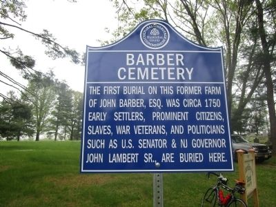 Barber Cemetery Marker image. Click for full size.
