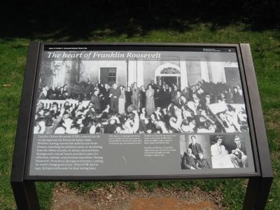 The heart of Franklin Roosevelt Marker image. Click for full size.
