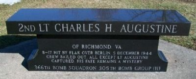2nd Lt Charles H. Augustine Bench image. Click for full size.